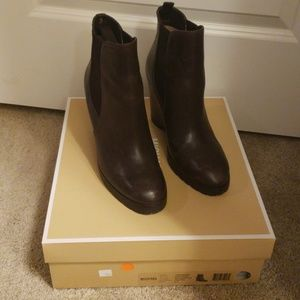 Brown Micheal Kors Wedge Boots